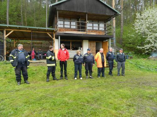 Cvičení jednotek požární ochrany na okrese Strakonice 2013 v Prčíně