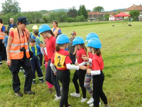 Okresní kolo soutěže mladých hasičů Plamen 2014 Střelské Hoštice