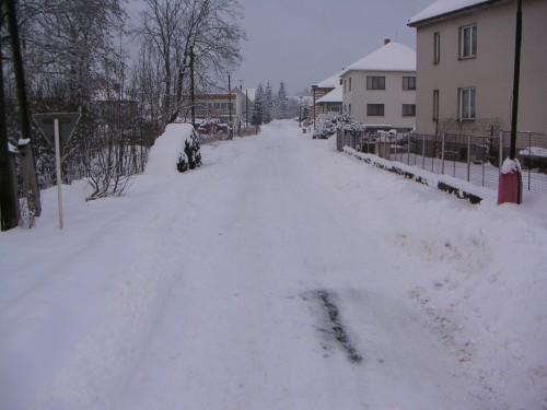 některé starší fotografie obce, zima